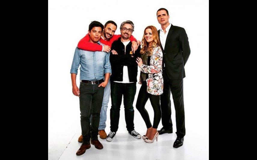 Vasco Palmeirim, Pedro Ribeiro, Nuno Markl, Vanda Miranda e Ricardo Araújo Pereira