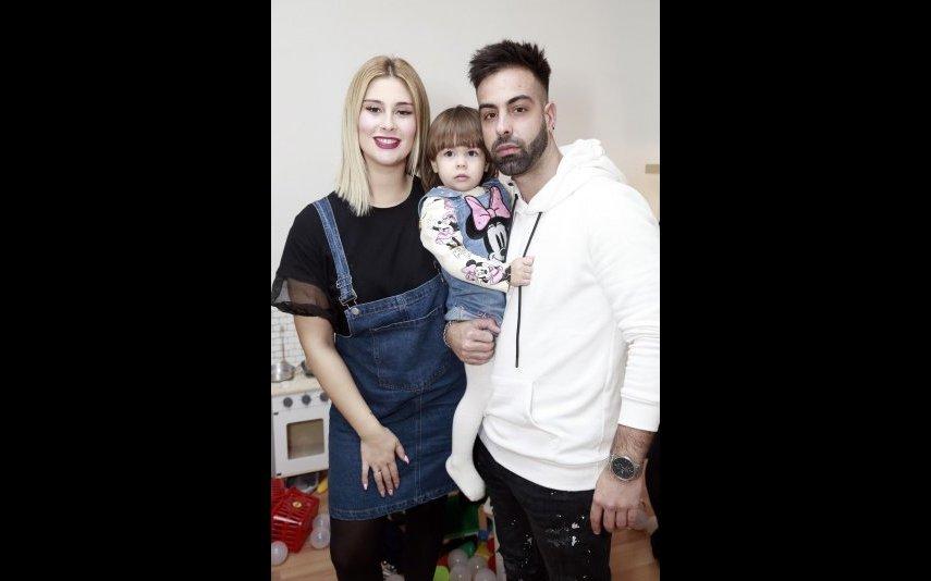 Bernardina e Pedro com a filha Kyara