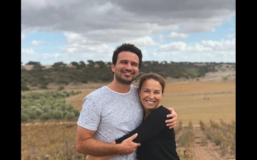 Tânia Ribas de Oliveira com o marido