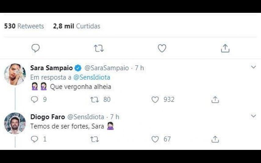 A resposta de Sara Sampaio