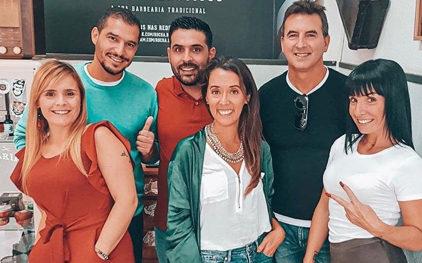 Lucas da Rocha e Inês Santos com os colegas de Casados à Primeira Vista
