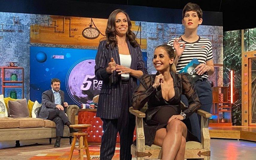Carolina Patrocínio com Filomena Cautela e Inês Lopes Gonçalves