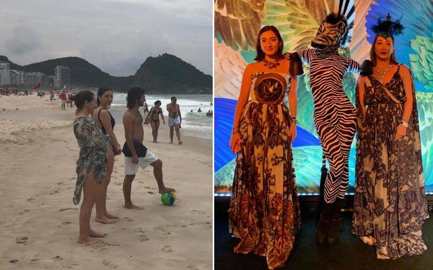 Tami, Matilde e José Mourinho no Rio de Janeiro