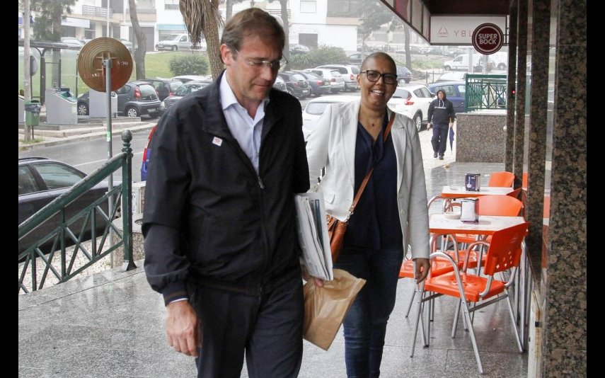 Pedro Passos Coelho e Laura Ferreira