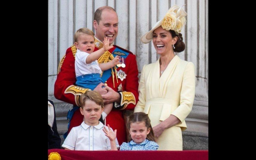 Kate e William com os filhos, George, Charlotte e Louis