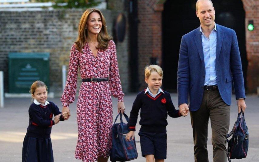 Kate e William com os filhos, George e Charlotte