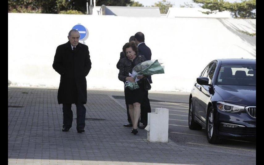 António Ramalho Eanes com a mulher Maria Manuela Duarte