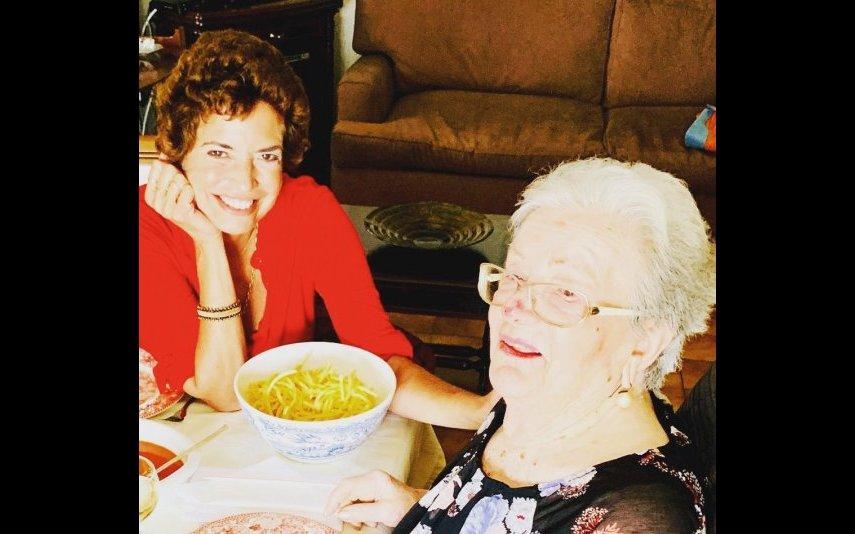 Bárbara com a avó, de quem falou na entrevista
