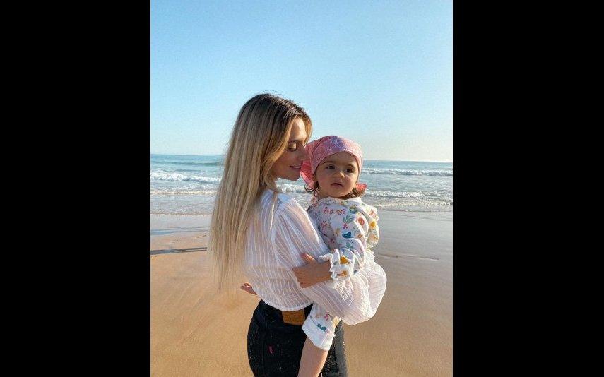 Liliana Filipa com a filha