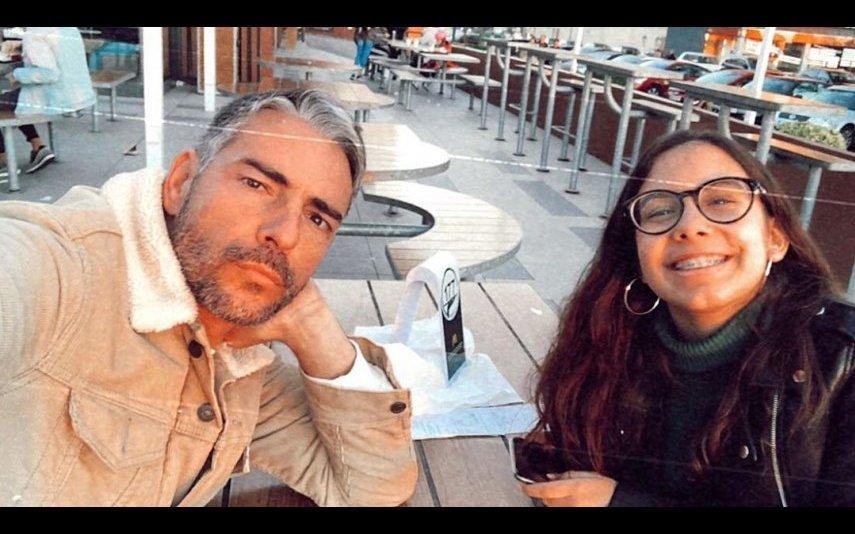 Cláudio Ramos com a filha