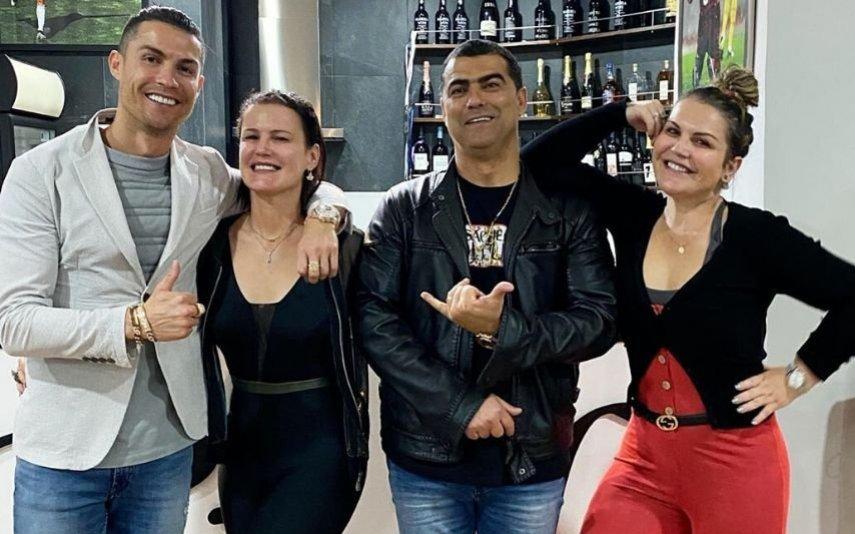 Cristiano Ronaldo com os irmãos, Elma, Hugo e Katia Aveiro