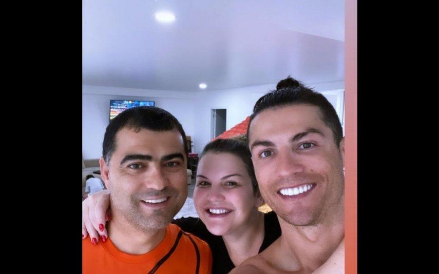 Cristiano Ronaldo com Hugo e Katia Aveiro