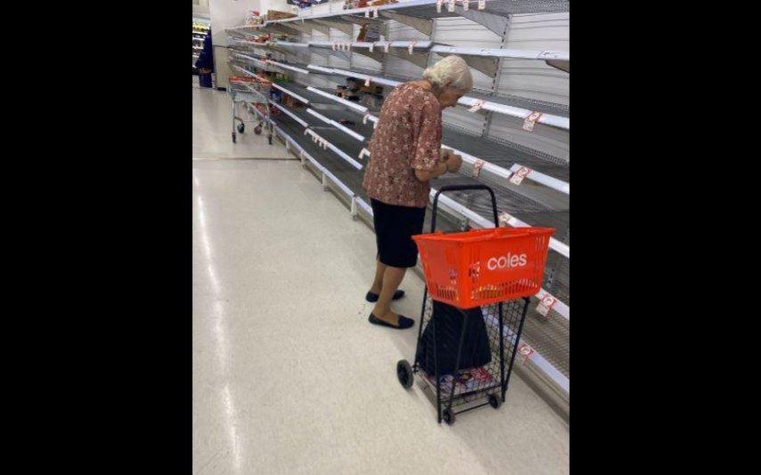 A fotografia foi captada num supermercado na Austrália
