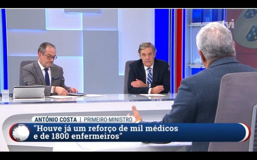 Miguel Sousa Tavares e José Alberto Carvalho entrevistam António Costa