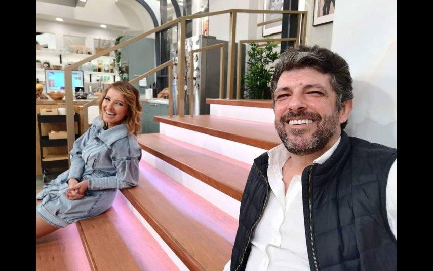 Cristina Ferreira com o realizador João Patrício