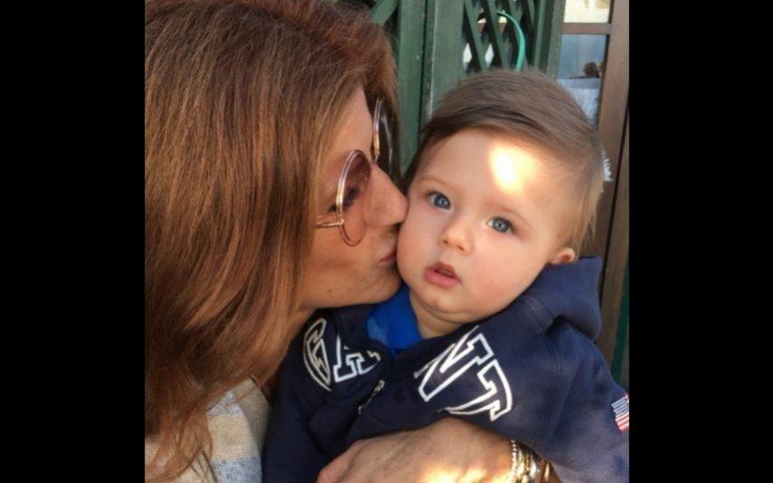 Bibá Pitta com o neto António