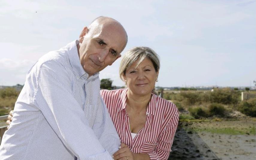 António Cordeiro com a mulher, Helena Almeida