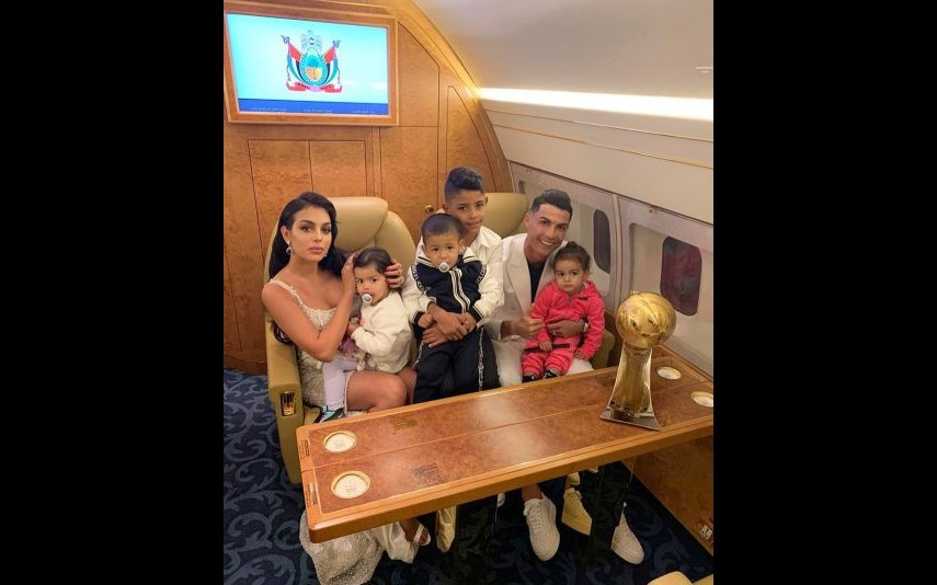 Cristiano Ronaldo, Georgina e os filhos