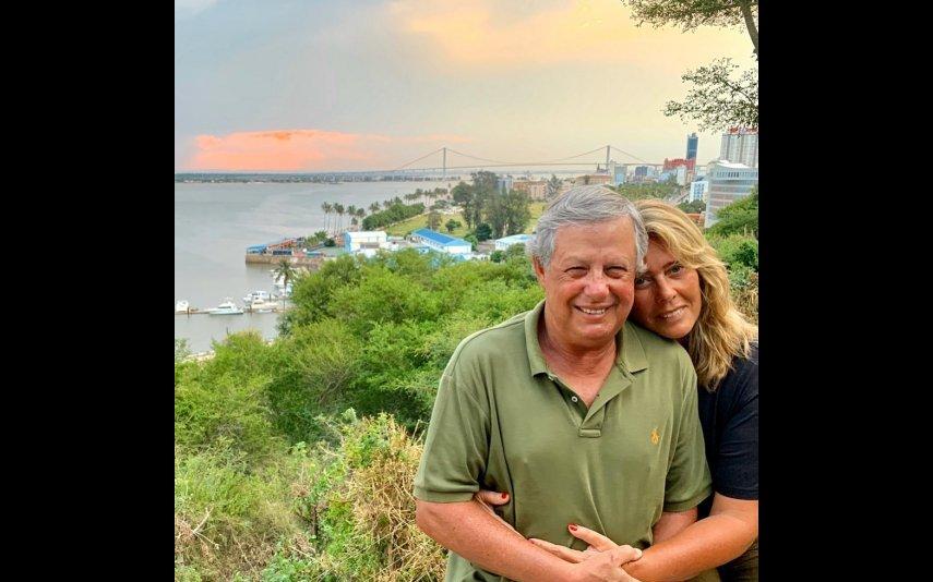 Felipa Garnel com o marido, Nuno Lobo Antunes