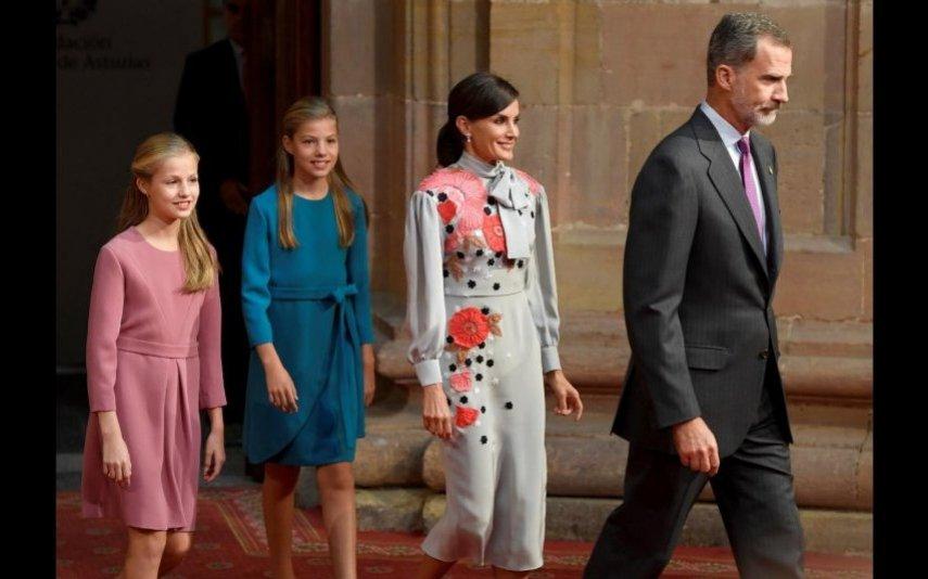 Felipe e Letizia com as filhas