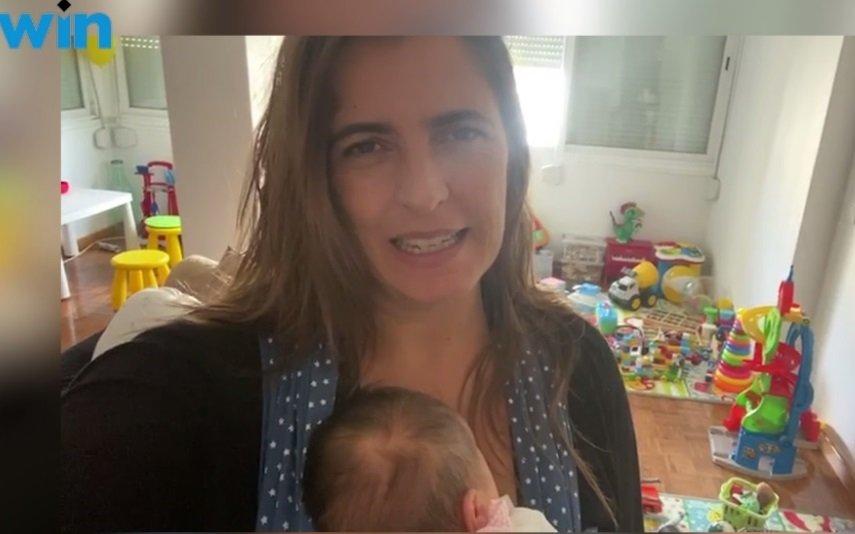 Sofia Fernandes foi mãe em plena pandemia