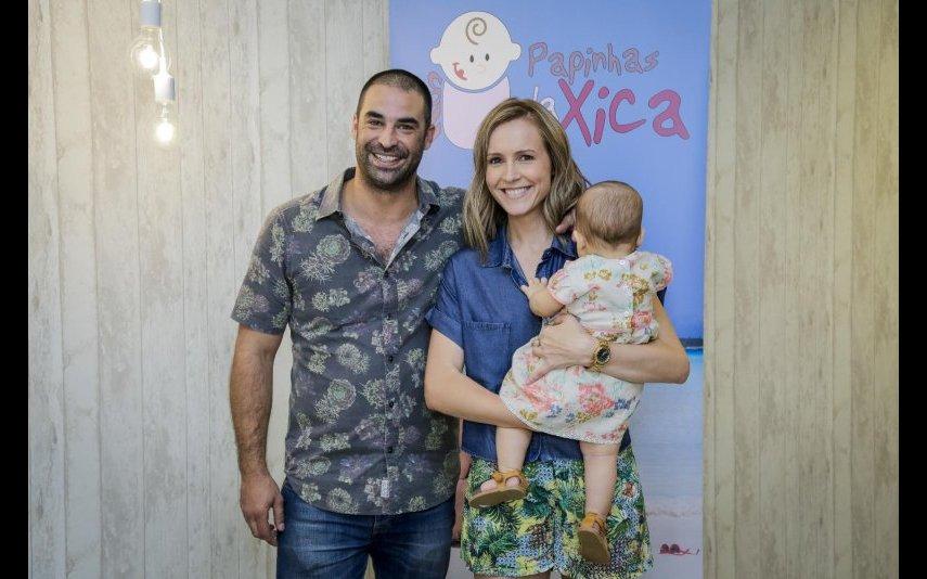 João Catarré, Sandra Santos e a filha Francisca