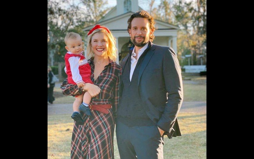 Nick Cordero com a mulher, Amanda Kloots, e a filha