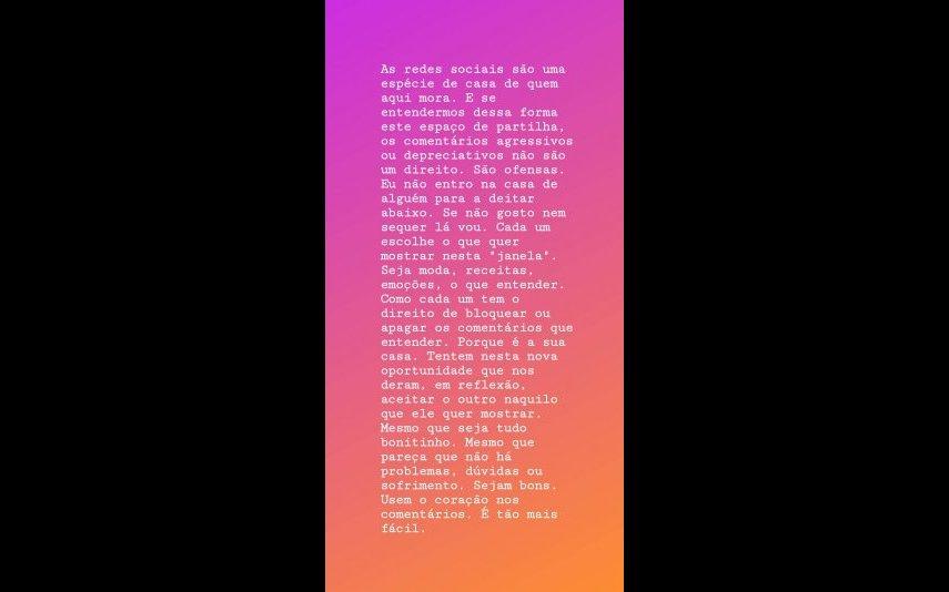 A mensagem de Cristina Ferreira