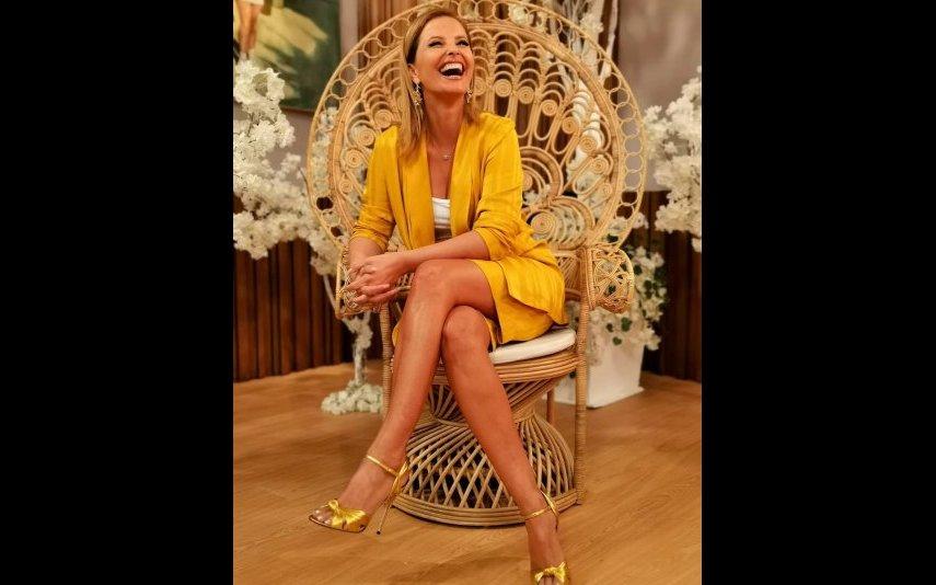 Cristina Ferreira optou por um conjunto amarelo que fez furor nas redes sociais