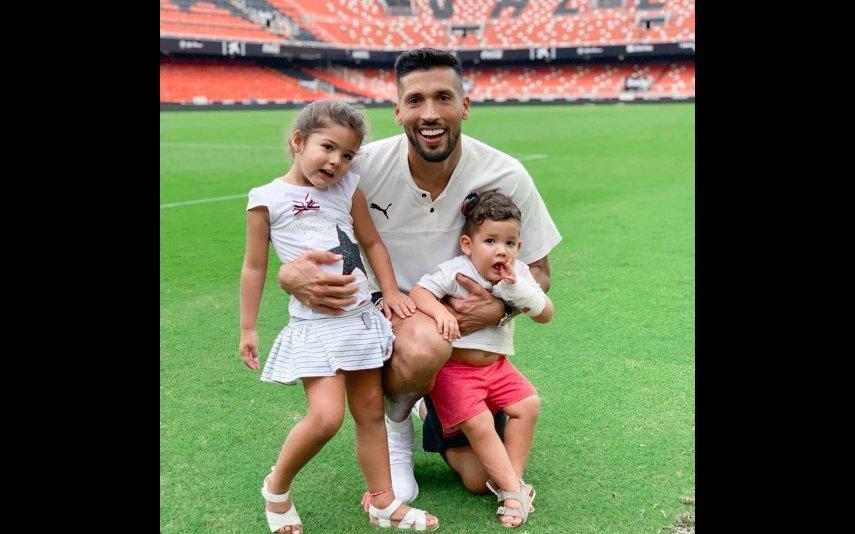 Garay com os filhos