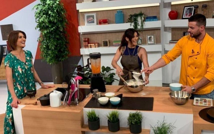 Marco Costa e Marta Faial no programa de Fátima Lopes