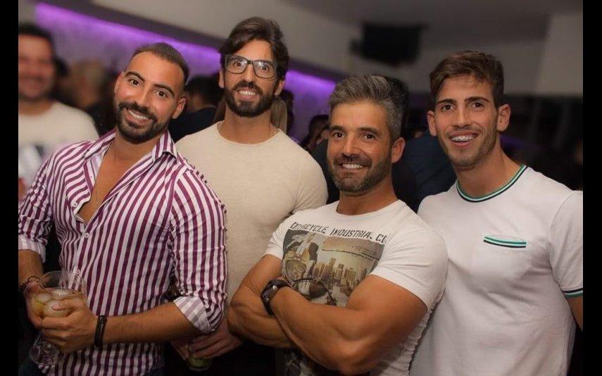 Hélder com os amigos Pedro Almeida, David Rocha e Daniel Rocha