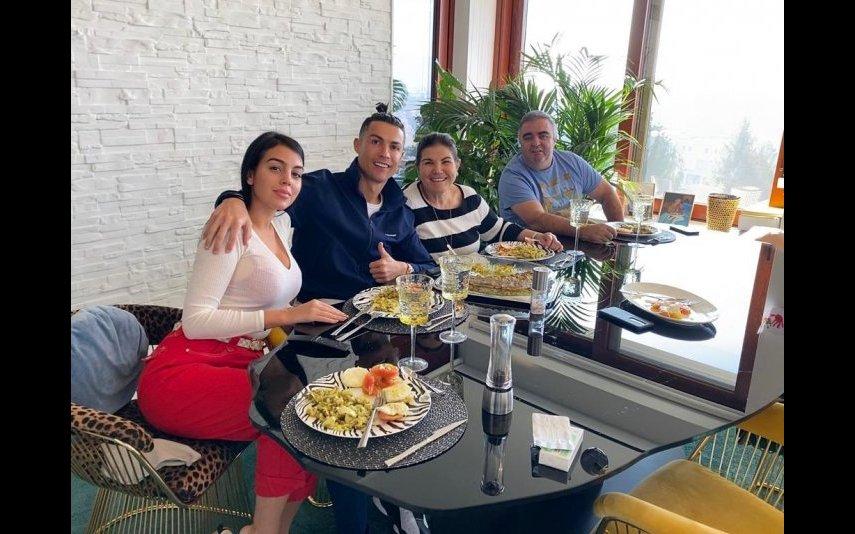 Cristiano, Georgina, Dolores e Andrade