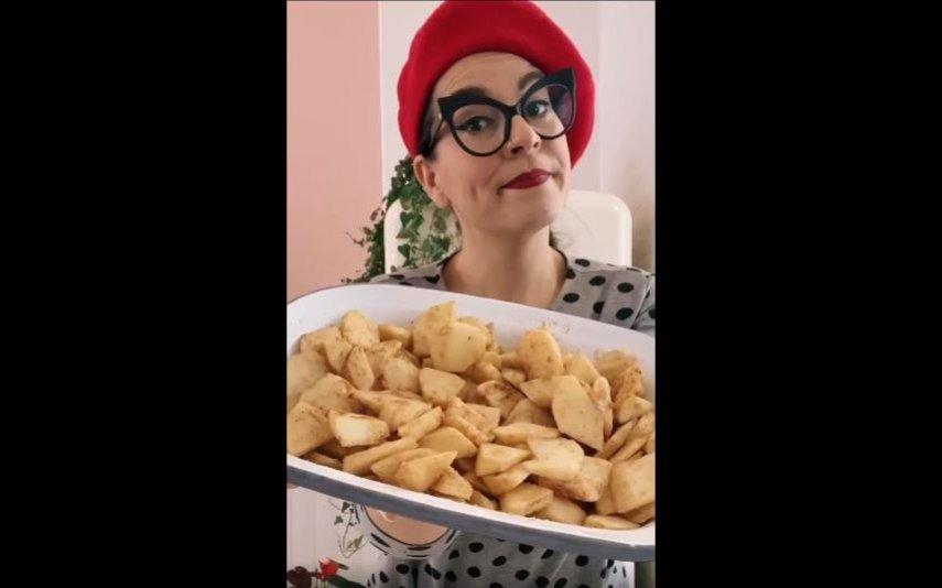 Filipa Gomes preparar crumble de maçã