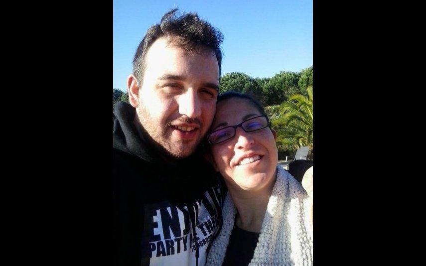 Sandro com a mulher Márcia, madrasta de Valentina