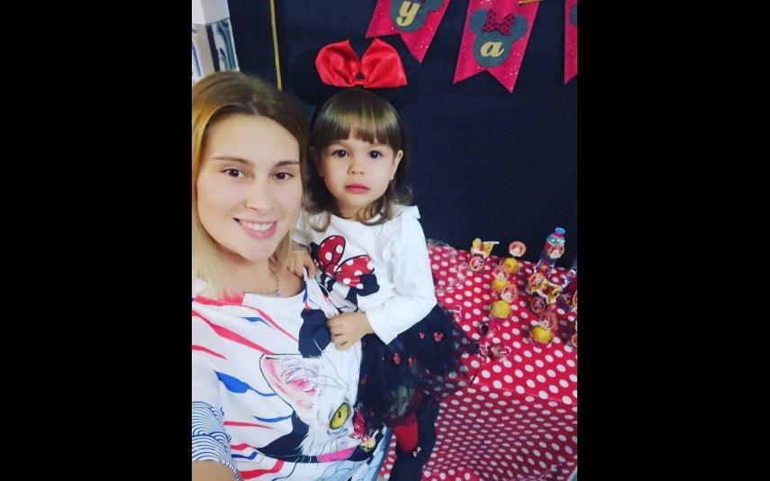 Bernardina e a filha Kyara