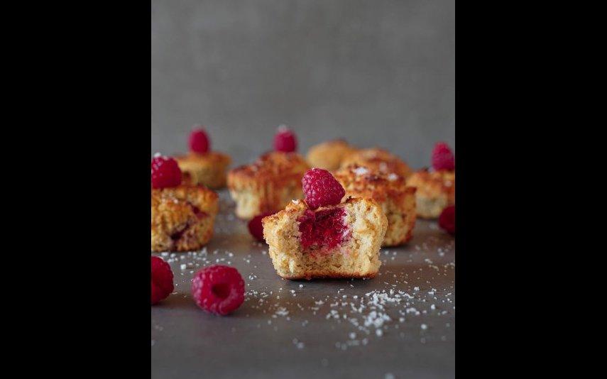 Muffins de Limão e Framboesas