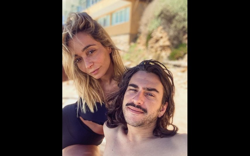 Carina Caldeira com o marido