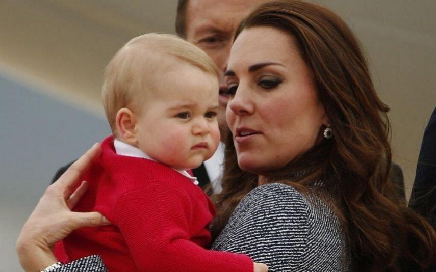 príncipe George e Kate Middleton