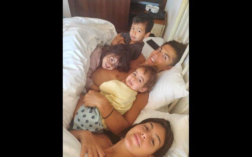 Georgina Rodríguez, Cristiano e os filhos