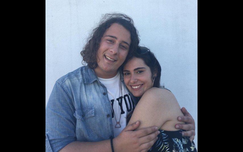André Filipe e a namorada