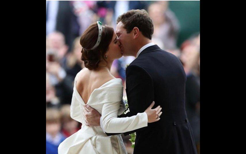 Imagem do casamento de Eugenie e Jack