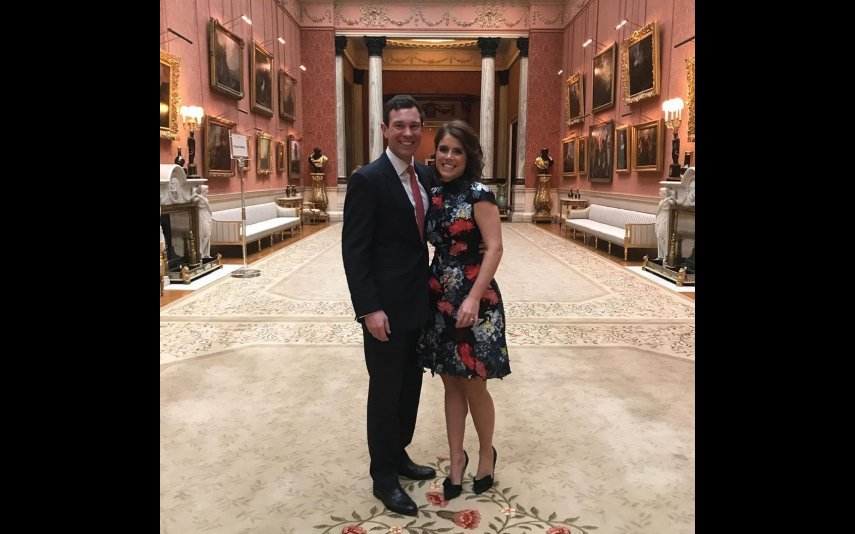 Princesa Eugenie com o marido