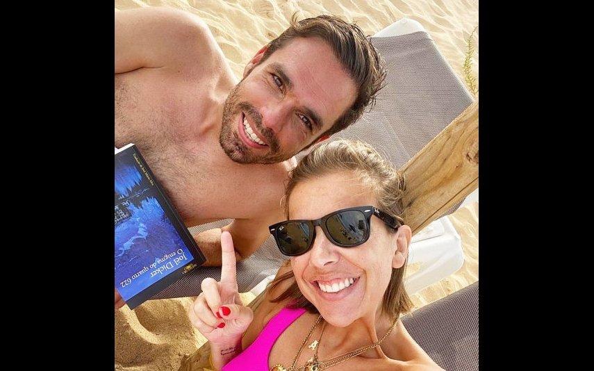 Pipoca Mais Doce, ou Ana Garcia Martins, com o marido, Ricardo Pereira