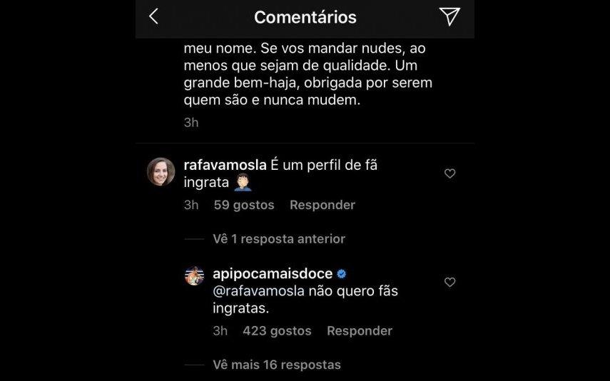 Pipoca mais Doce denuncia perfil de Instagram