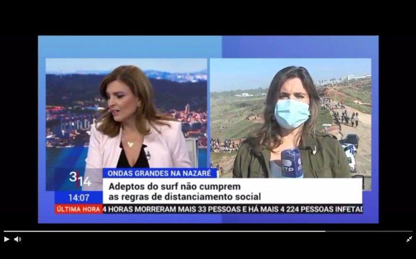 Uma empregada de limpeza da RTP passou por trás de Cristina Esteves