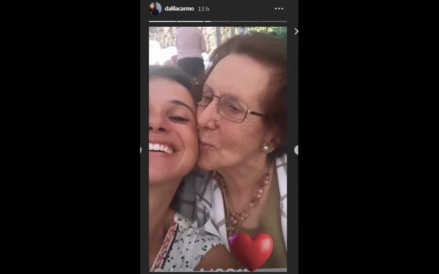 Dalila Carmo com a avó