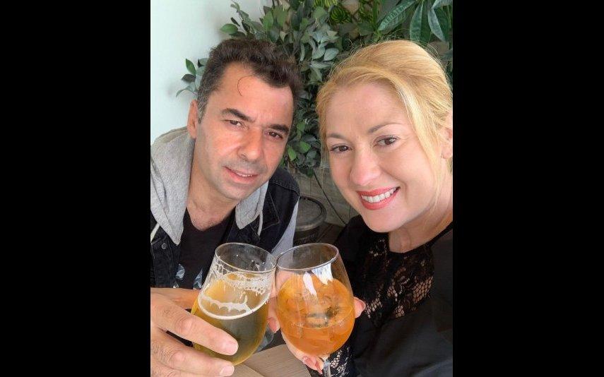 Rebeca e o marido Élio Gomes nos Açores