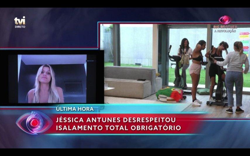 Jéssica Antunes furou o isolamento obrigatório