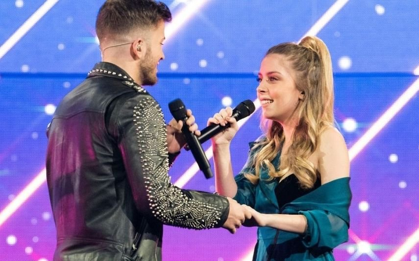 David e Sara Carreira no The Voice em 2018
